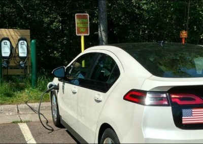 2012 Chevy Volt charging at Gooseberry Falls Visitor Center