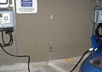 Nissan Leaf charging with ClipperCreek CS station at McGhee Tyson Airport Knoxville TN