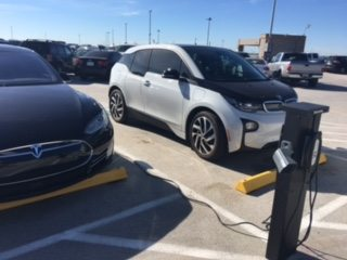 Tesla and BMW i3 EV charging at SMF