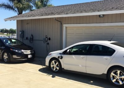 Two Chevy Volts charging on LCS-20 Level 2 16 Amp