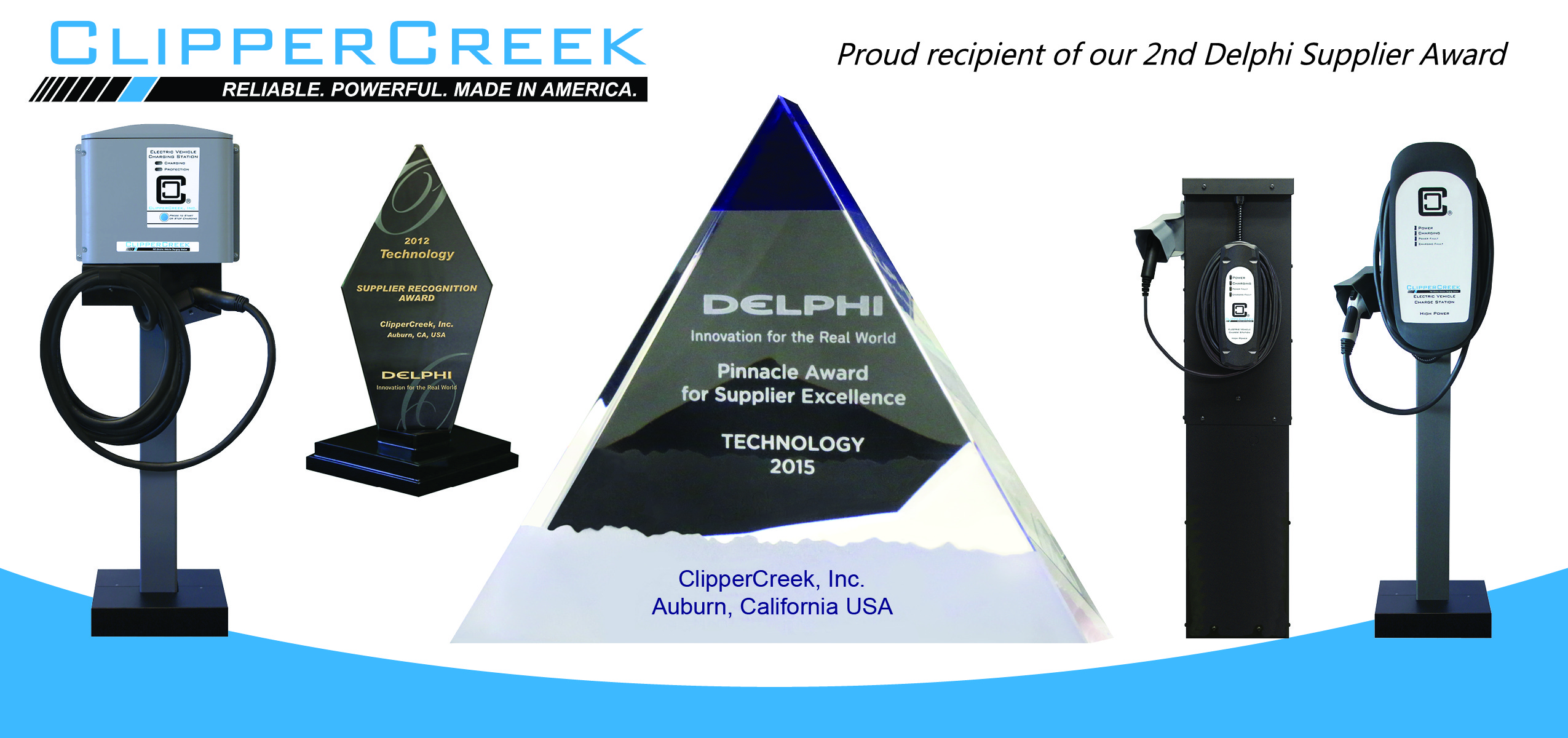 ClipperCreek Wins Delphi Supplier Award