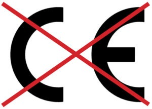 Do NOT use a product that only has a CE mark.