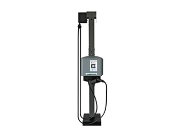 Pedestal extension kit with cable management for two CS EV charging stations