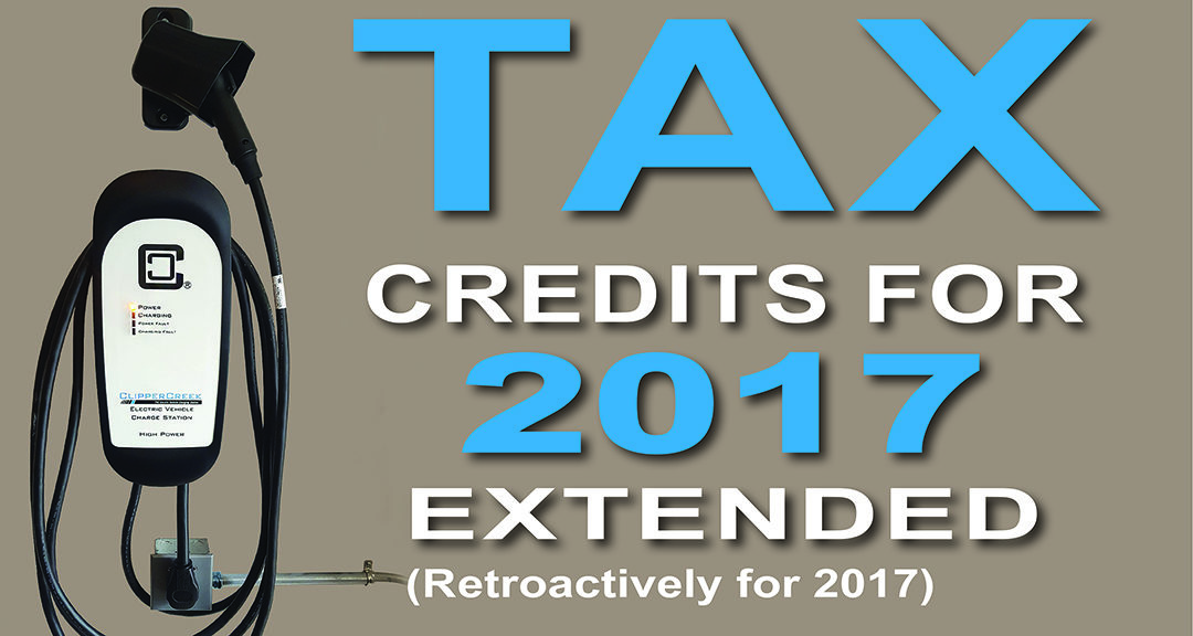 Tax Credits For 2017 Extended Clippercreek