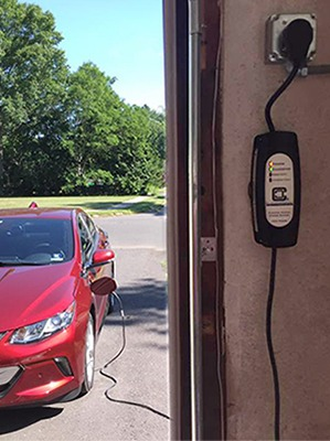 LCS-20P EVSE Charging red Chevy Volt